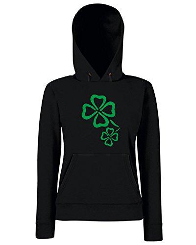 T-Shirtshock - Sweats a capuche Femme TIR0183 shamrocks dark tshirt Noir