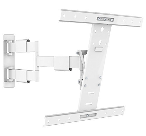 Intecbrackets? - Ultra slim fit (40mm) with extra long 650mm reach white swivel and tilt TV wall bracket guaranteed to fit all LCD & LED TVs 32 37 39 40 42 46 47 50 55 complete with all fittings and lifetime warranty