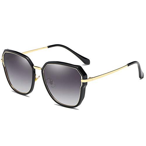 Polarisierte Sonnenbrille Frauen Bunte Sonnenbrille Cat Eye Treibende Brille Uv-Schutz, Geeignet Für Dekoration, Einkaufen, Reisen, Sonnenschutz. (Color : Black)