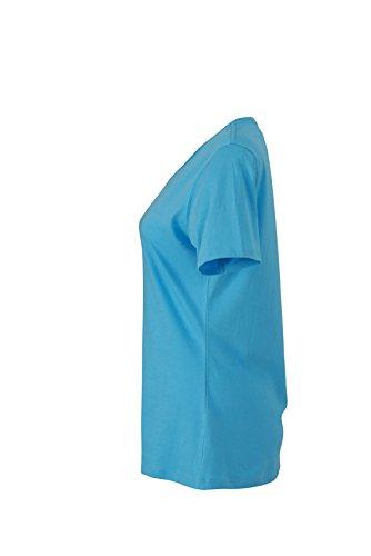 James & Nicholson Damen T-Shirt Ladies' Basic-t Blau (Sky-Blue)