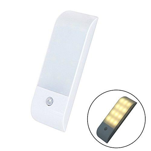 Rokoo LED-Nachtlicht mit Bewegungssensor, 12 LEDs, Schrankbeleuchtung, Garderobenschrank,...