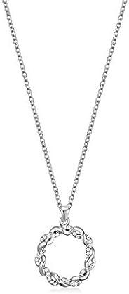 Mestige Women Glass Spiral Necklace with Swarovski Crystals