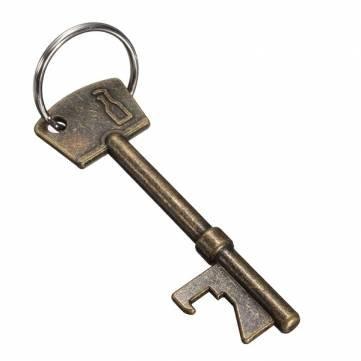 Pakhuis NEU Flaschenöffner Schlüsselring -Schlüsselring -Kette Metall -Stab-Werkzeug - Silver
