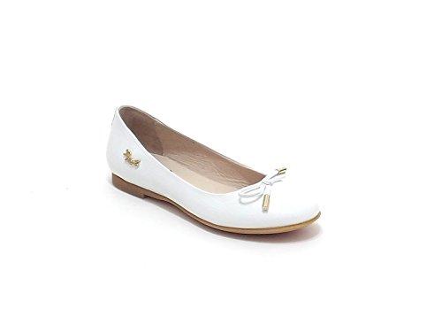 Liu Jo scarpe bambina, articolo 22129, ballerina in pelle stampata, colore bianco