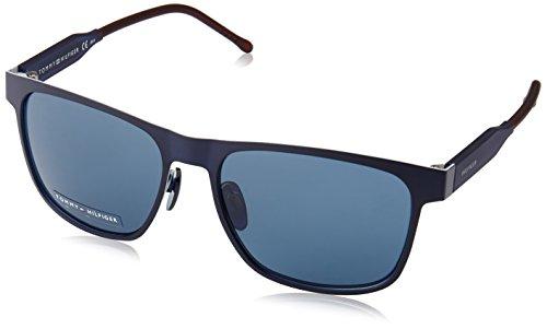 Tommy Hilfiger TH 1394/S 8F, Montures de Lunettes Mixte Adulte, Noir (Mttblue Blue), 56