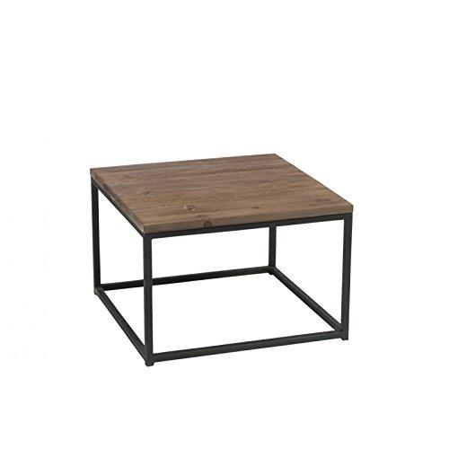 design de qualité 647a1 3bb67 J-line - Table basse bois brut et métal noir: Amazon.fr ...
