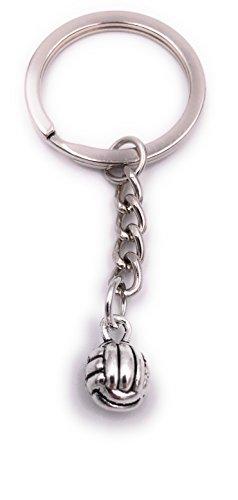 H-Customs Volleyball Schlüsselanhänger Anhänger Silber aus Metall