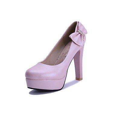 Zormey Women'S Shoes Stiletto Heel/Plattform/Round Toe Heels Party & Amp Abend-/Kleid Blau/Rosa/Wei? US4-4.5 / EU34 / UK2-2.5 / CN33