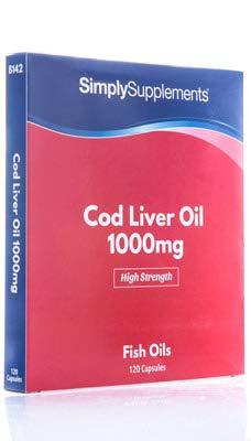 Aceite de Bacalao 1000 mg - 120 cápsulas - Hasta 4 meses de suministro - Con Omega 3 para tu salud cardiovascular - SimplySupplements