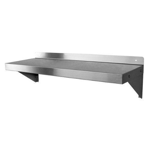 """DuraSteel NSF Approved Stainless Steel Commercial Wall Mount Shelf 12"""" (Deep) x 36"""" (Wide)"""