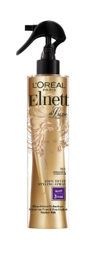 L'Oreal Paris Elnett de Luxe - Hitze Styling-Spray Glatt, 2er Pack (2 x 170 ml)