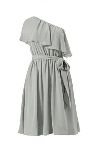 daisyformals une sangle Party Demoiselle d'Honneur robe vintage robe asymétrique (bm1362) Gris - #55-Gray