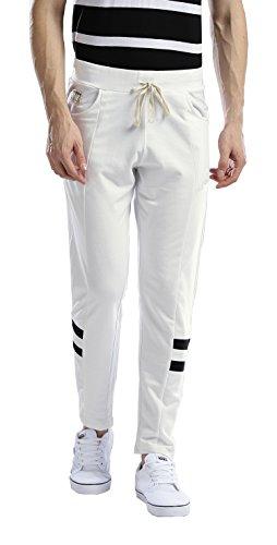 Hubberholme Men's Cotton Track Pant (White, 40, 7076-40)