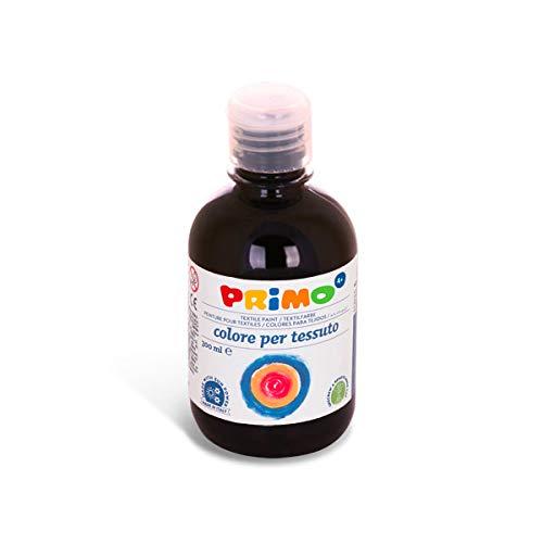 PRIMO Permanente Textilfarbe, 300 ml Flasche mit Dosierverschluss Airbrush/Spray-fähig (schwarz) (Schwarz Permanent-textilfarbe)