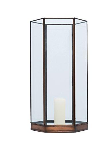Buyer Bazaar Handgefertigtes Glas groß-Beiner Kerze Säule Halter, trasnparent, 42cm