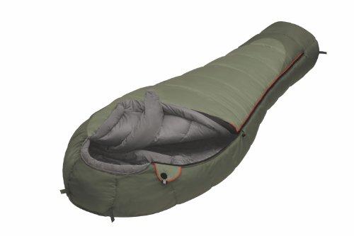 ALEXIKA Schlafsack Aleut, rechte Reißverschluss, grün-grau / grau, 95(Breite oben)x230(Länge) x65(Breite unten), 9232.0107R