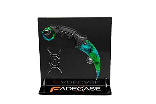 fadecase Karambit Elite + Karambit Stand - Real CSGO Knife Skin Counter Strike Global Offensive (Gamma Doppler)