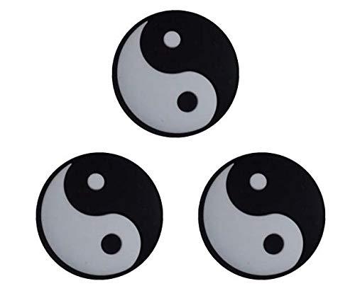 Pro\'s Pro - Damp - Tai Chi - Yin Yang - Vibrationsdämper/Stoßdämpfer für Tennisschläger schwarz/weiß- 3 Stück
