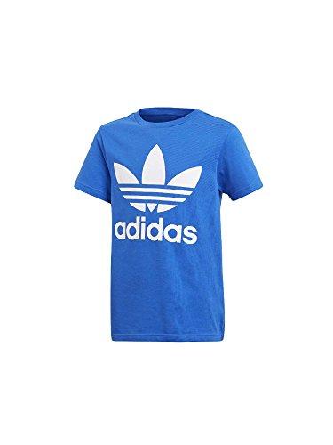 Adidas trefoil - maglietta bambini, blu/bianco, 9-10 anni (140 eu)