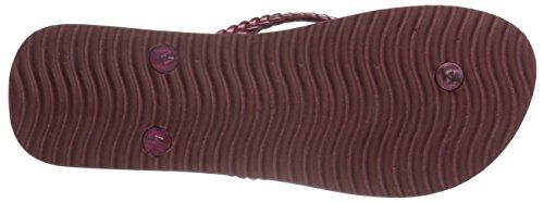 flip*flop - Slim Feather, Sandali Donna Rosso (Rot (Sangria 654))