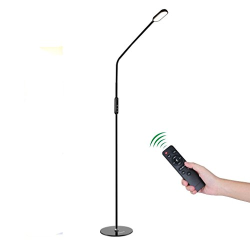 Stehleuchten LED , ICOCO 9W Dimmbare LED Stehlampe fernbedienung mit 5 Farbtemperaturen und 5 Helligkeitsstufen, Wohnzimmer oder Kinderzimmer