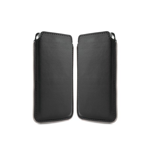 NATUREL-EUROPE Handytasche ZTE Nubia Z5s Tasche Etui Handyzubehör Schutz Case Smartphone Hülle Handyhülle Cover Schutzhülle Handy Schutztasche Designer Schwarz