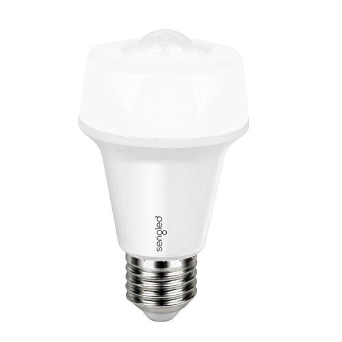 Sengled Smartsense LED Lampe mit Integriertem Bewegungssensor/Bewegungsmelder, nicht dimmbar, ersetzt 60W, warmweiß 2700K, A60, 9 W, E27