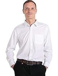 Meerway Camisa para Hombre de Manga Larga Formal Camisas clásicas de Negocios de Ocio Regular fit
