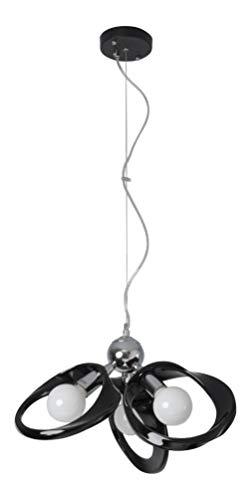Lampe à suspension Plafonnie Lustre Chandelier Lampadaire Applique Plafonnier Lustre Lampe sur pied Emma Chandelier 3 noir