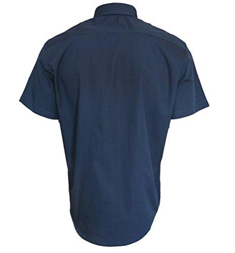 ROCK-IT Herren Hemd kurzarm US-Hemd im military Look Worker Hemd Worker shirt Freizeithemd Arbeitshemd made in Europa Größen S-5XL Farben schwarz olive charcoal Navy Hellblau Braun Navy