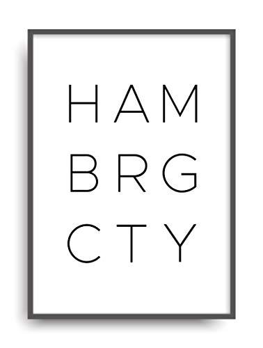 Kunstdruck HAMBURG CITY Poster Bild Print ungerahmt DIN A4