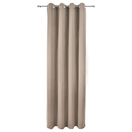Beautissu tenda oscurante con occhielli serie amelie - 140x245 cm sabbia - oscura senza effetto blackout