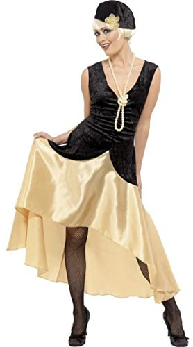 Kostüm Flapper Mädchen - Damen 1920s Jahre 1930s Jahre Gatsby Mädchen schwarz/Gold Flapper Kostüm Kostüm Outfit Übergröße - Schwarz, 20-22