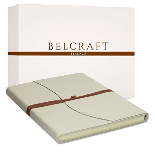 premium selection 51640 aea7f Capri A4 gran cuaderno de piel hecho a mano, en estilo clásico Italie  nischem, incluye caja de regalo, diario, piel libro A4 (21 x 30 cm), color  Milch