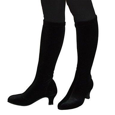 Silence @ pour femme Haute Tige en velours Bottes moderne Chaussures de danse Plus de couleurs marron