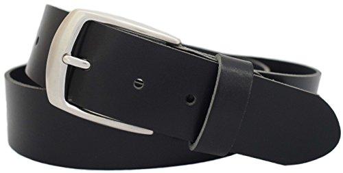Ledergürtel aus 100% Rindleder der Marke GREEN YARD®|4 cm breit|Damengürtel|Herrengürtel|Jeansgürtel|Längen: 80 bis 135cm–Art.-Nr.:455