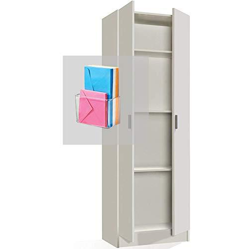 Armario Blanco Multiusos Dos Puertas con Estantes