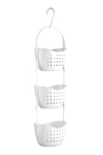 Premier Housewares 1601488 3-Tier Dusche Caddy, weiß, PP - Polypropylen, 16x22x83 (Kunststoff Weiß Dusche Caddy)