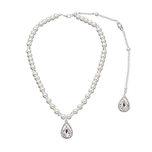 MYJ Körper Kette Einfache Sexy Fringe Frauen Lange Zurück Kette Wilde Perle Anhänger Halskette,Silber,A