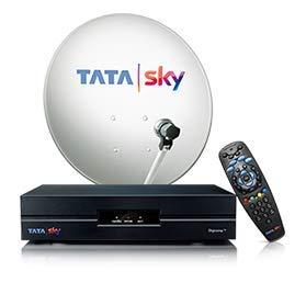 Tata Sky SD Set Top Box 1 Month FTA Basic Pack (Black)