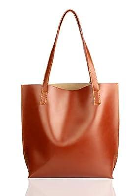 Mammon Women's Tote Handbag (plain-tan,35x35 Cm)