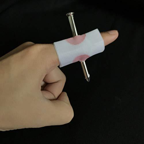 eich Gefälschte Nagel Durch Fingertrick Zauberrequisiten Aprilscherz Halloween Party Spielzeug Spaß Spielzeug (weiß) ()