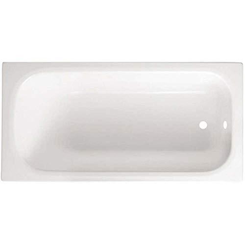 Guscio vasca bagno rettangolare bianca modello smeraldo 105 x 70 senza pannello
