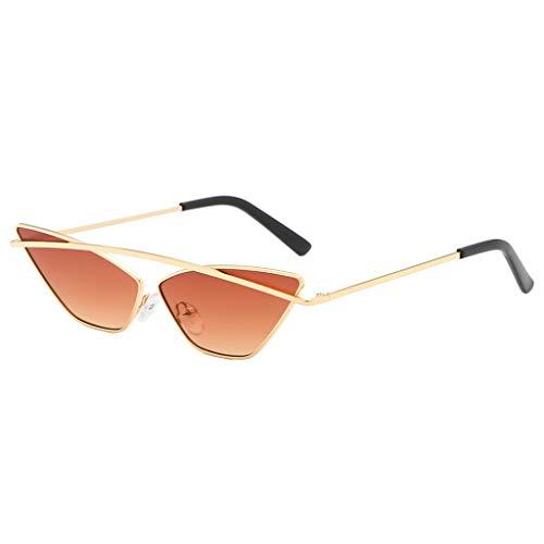 POTOU Brillen Mode Sonnenbrillen Damenmode Cat Eye Shade Sonnenbrillen integrierte Streifen Vintage Brille