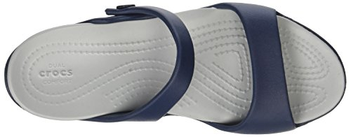 crocs Damen Cleo V Sandal Women Blau (Navy/light Grey)