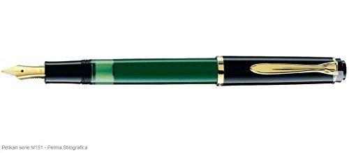 Pelikan - Stilografica Classic M151 Nero-Verde a...