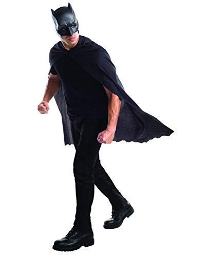 Lizenzierte Kostüm Maske - Batman Umhang mit Maske als lizenziertes Superhelden Kostüm Set für Karneval