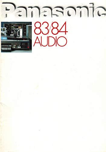 Panasonic 83/84 Audio (Katalog) (Panasonic National)