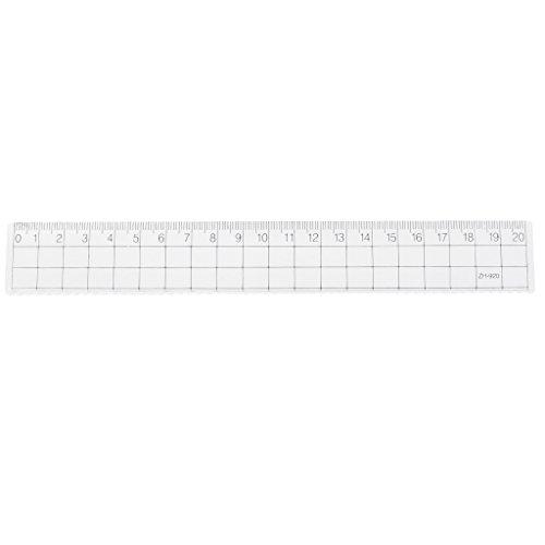Lamdoo - Lineal, transparent, einfach, gerade, für Schüler und Schule, plastik, durchsichtig, 20 cm