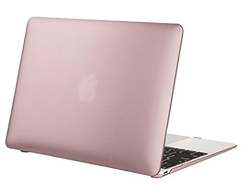 MOSISO Ultra Slim Coque Rigide Housse en plastique Snap pour MacBook Pro 12 pouces avec écran Retina (A1534), Or rose